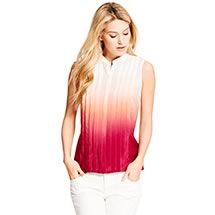 SILK OMBRE SLEVELESS BLOUSE