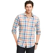 CUSTOM FIT PLAID SHIRT
