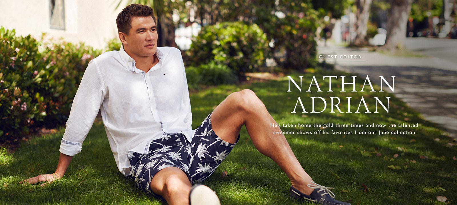 Nathan Adrian for Tommy Hilfiger