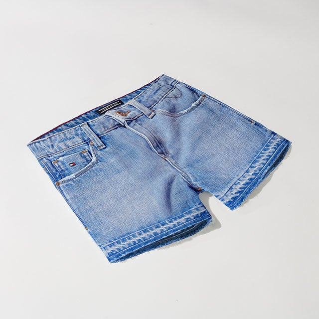 A pair of girls' jean shorts