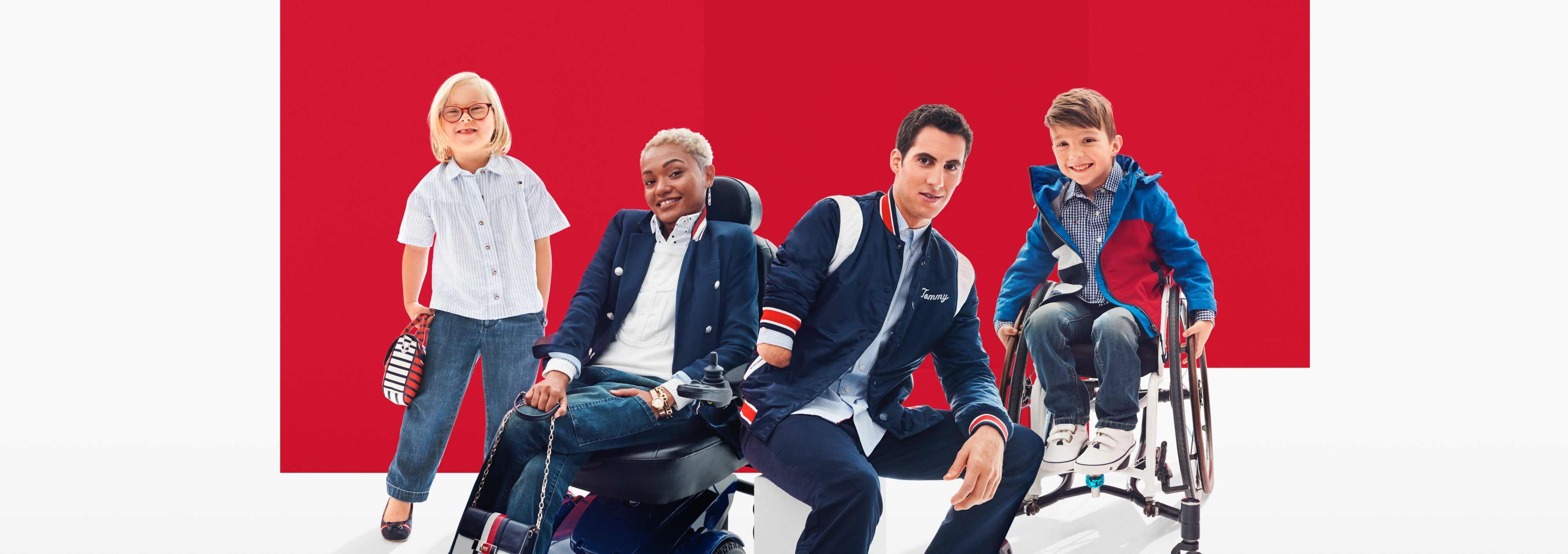 382f7a175929 A group of adult and child models wearing apparel from the latest Tommy  Adaptive collection