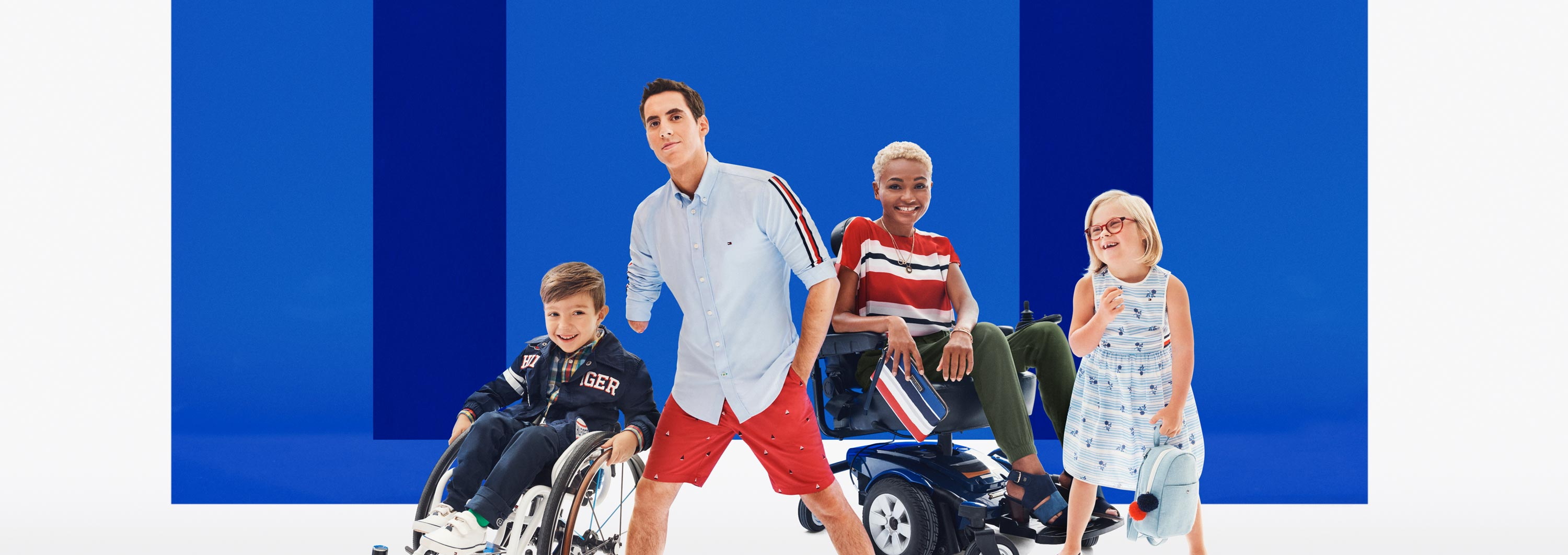 80a79e964 A group of adult and child models wearing apparel from the latest Tommy  Adaptive collection,