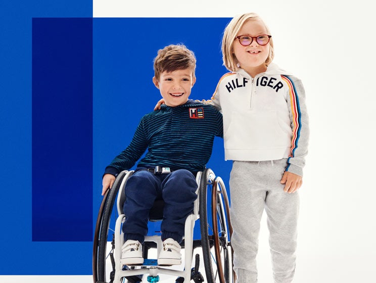 5de4fccb5 Boy and Girl models wear apparel from the Tommy Adaptive collection