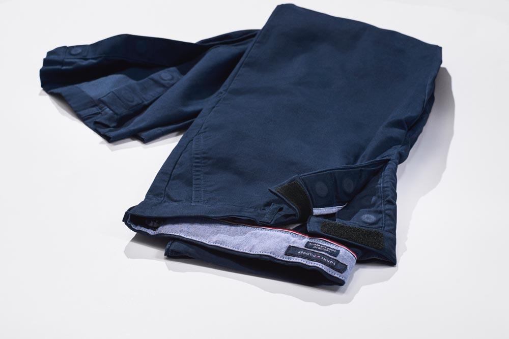 54bce0c693 Female model wears Tommy Adaptive stripe dress featuring hook and loop  fastener closures that help make ...