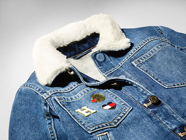711575e84 Image shows denim jacket with hidden magnetic closure that replaces  traditional buttons