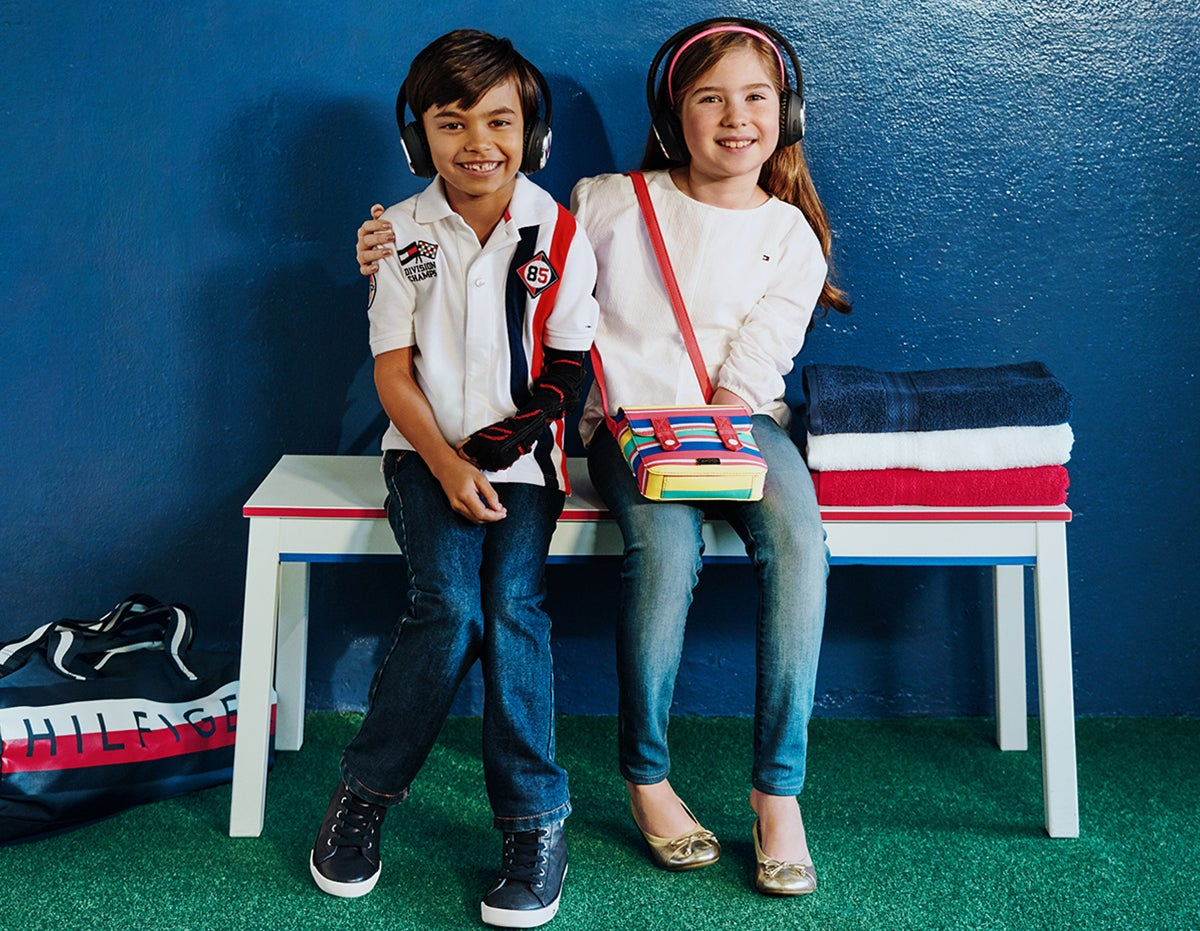 Latest Hits. Cool clothes they can put on by themselves? Sounds good. Two children wear signature Tommy looks that have been specially designed for ease of dressing.